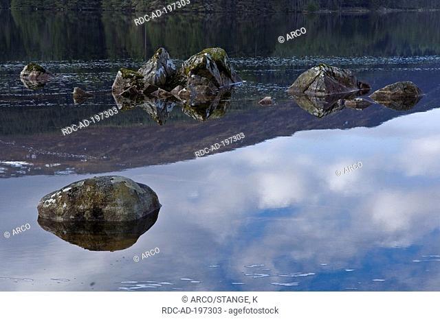 Loch Ossian, Rannoch Moor, Corrour Estate, Scotland, Highlands