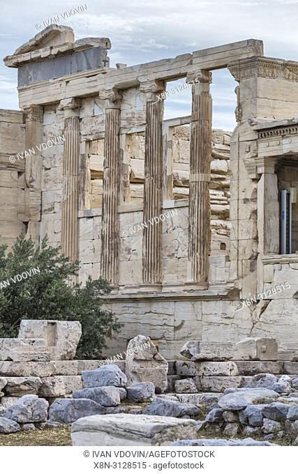 Erechtheion temple, Erechtheum (406 BC), Athens, Greece
