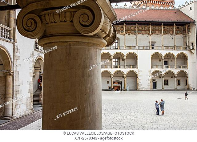 Wawel Royal Castle, courtyard, Krakow, Poland