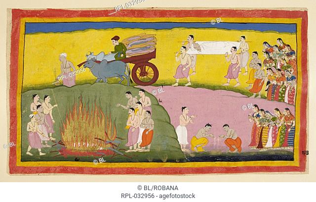 Scene from the Ramayana, Image taken from Ramayana, Ayodhya Kanda