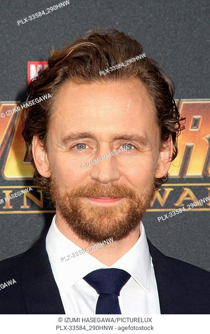 "Tom Hiddleston 04/23/2018 The World Premiere of """"Avengers: Infinity War"""" held at Hollywood, CA Photo by Izumi Hasegawa / HNW / PictureLux"