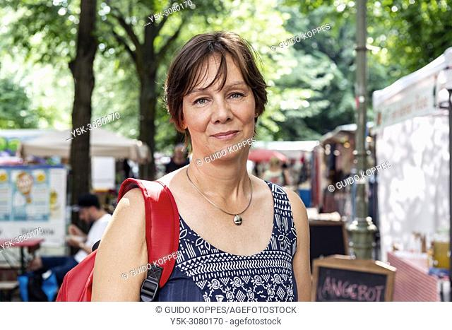 Berlin, Germany. Portrait of a female, Dutch expat, living and working in the German Capital as a writer and foodblogger