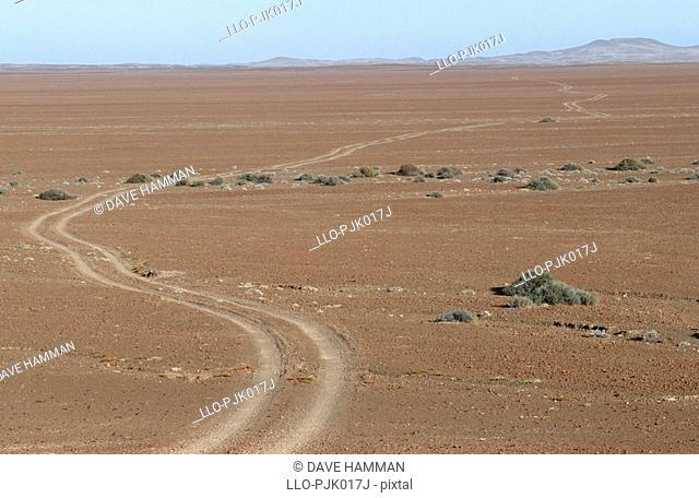 Desert landscape scene. Kunene Region, Skeleton Coast, Namibia, Africa