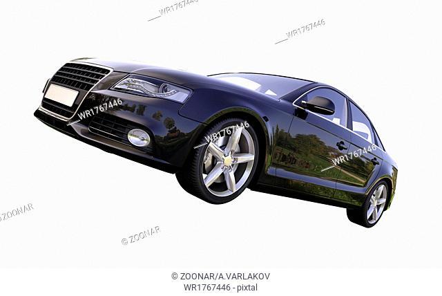 Modern luxury car isolated