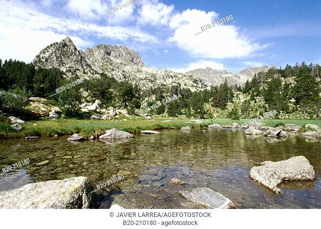 Estany de Ratera. Parc Nacional d'Aigües Tortes. Lleida province. Catalonia. Spain