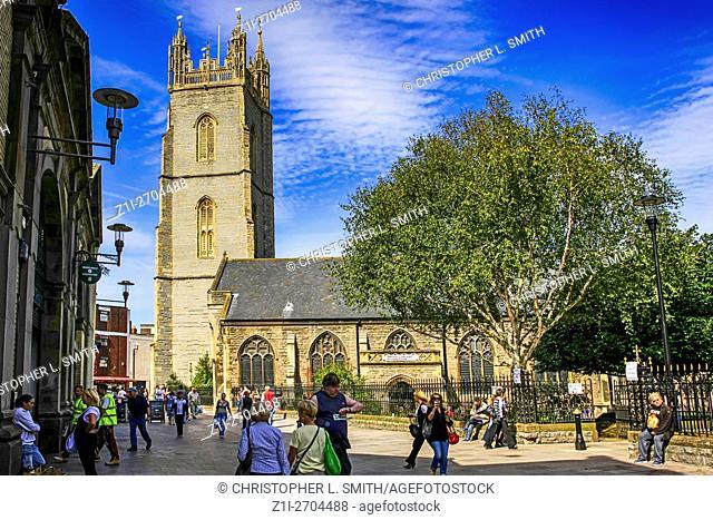 St. John's Church Cardiff City center Wales