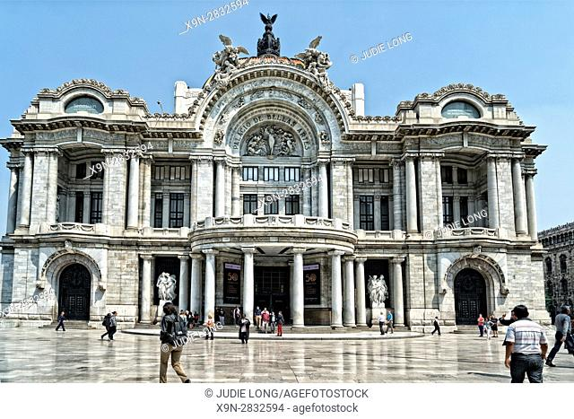 Mexico City, Mexico. The Palscio de Bellas Artes (Palace of Fine Arts), Performance Venue. Exterior Design Inspired by the Paris, France Opera House