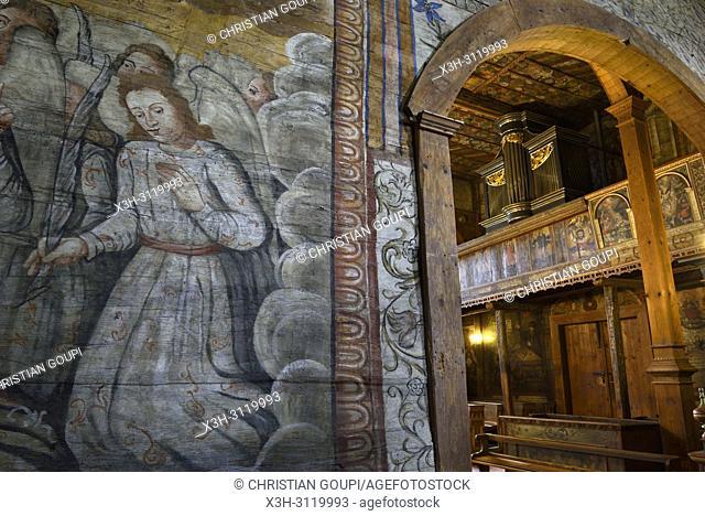 fresco in St. Michael Archangel's Church in Binarowa, Malopolska Province (Lesser Poland), Poland, Central Europe