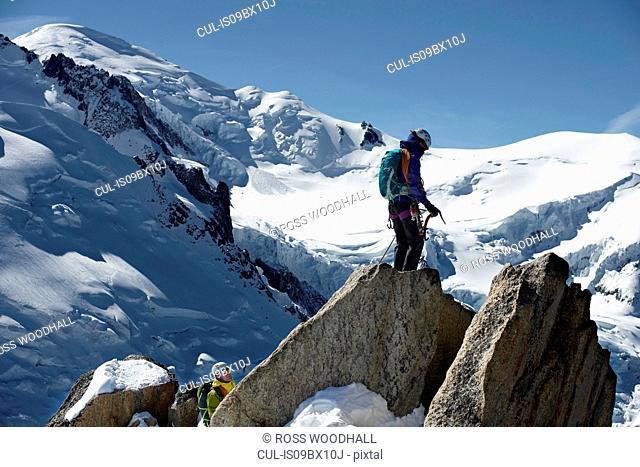 Mountain climbers, Chamonix, Rhone-Alps, France