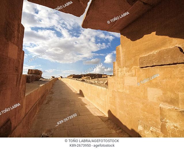 Unas Causeway. Archeological remains. Saqqara necropolis. Egypt