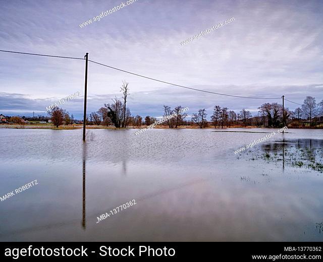 Winter floods at the Schmutter