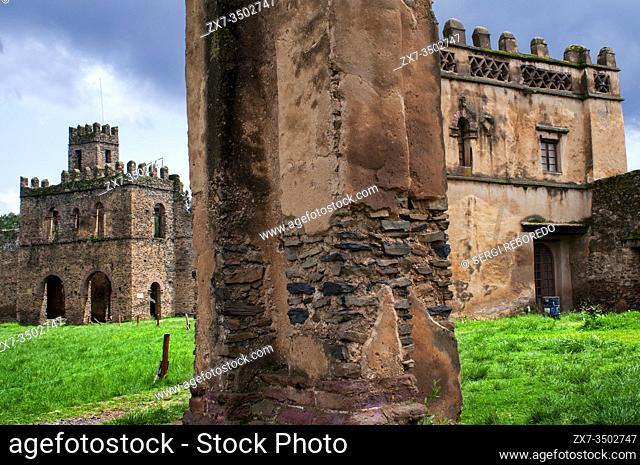 Royal Enclosure and Fasilidas Palace Gondar Ethiopia. Other names: Emperors palace and gondar castle