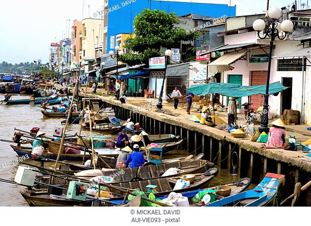 Vietnam - The South - The Delta of Mekong - Can Tho Region - Phung Hiep Market
