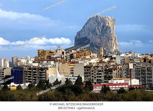 Penón de Ifach, rock, landmark of the Costa Blanca, Calpe, Costa Blanca, Spain, Europe