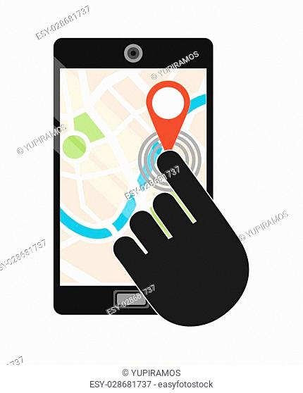 gps technology design, vector illustration eps10 graphic