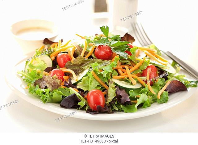Fresh salad on plate