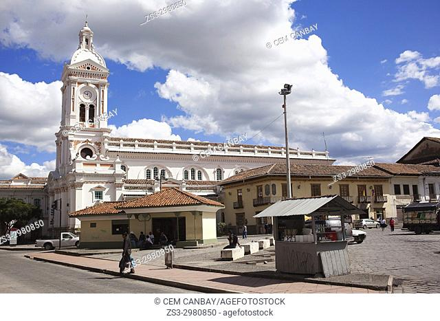 View to the All Saint's Cathedral in the city center, Cuenca, Azuay Province, Ecuador, South America