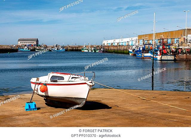 PORT OF SAINT-GUENOLE, PENMARCH, FINISTERE, BRITTANY, FRANCE