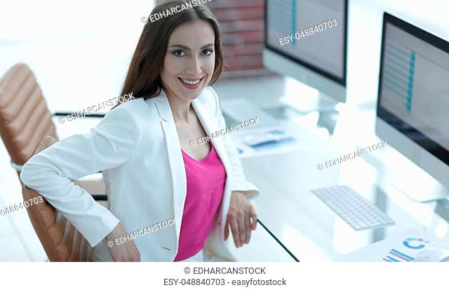 female accountant, drawn to the client sitting at your Desk