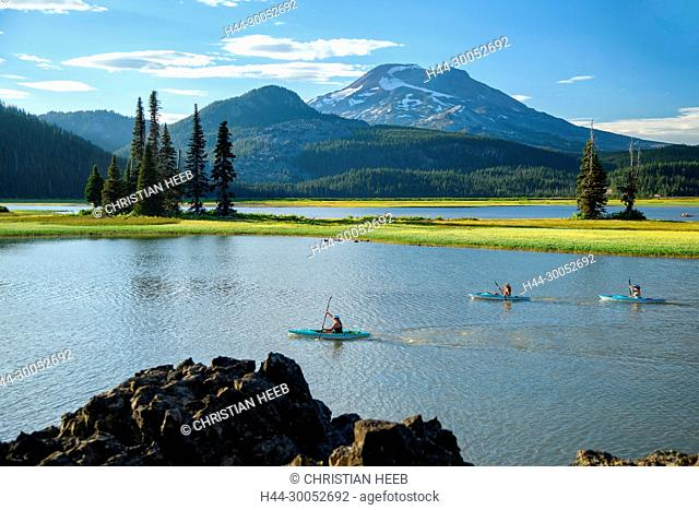 North America, America, USA, American, Pacific Northwest, Oregon, Deschutes National Forest, South Sister, Sparks Lake