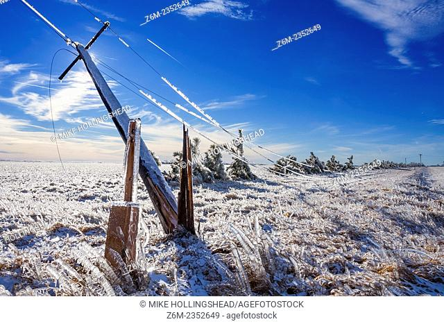 Intense ice storm slams south central Nebraska December 31, 2006. Some areas recieved over 2 inches of ice accumulation from long duration freezing drizzle and...