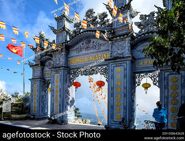 Gateway to the Sun World in da Nang in Vietnam. Clear Sunny day on the 12th of January 2020