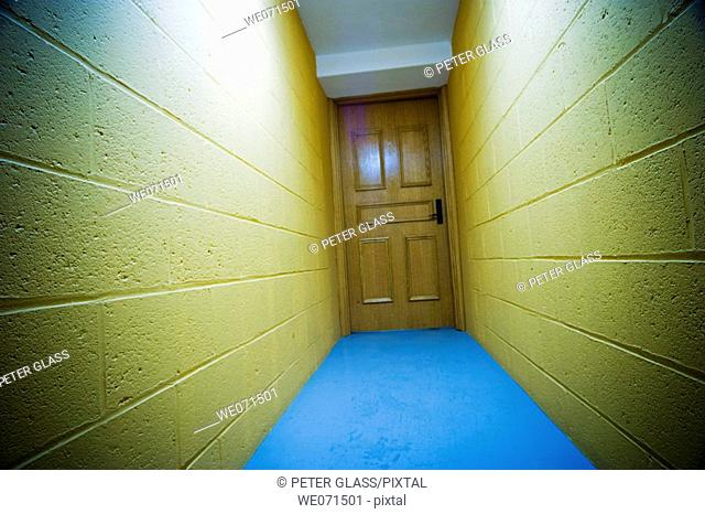 Hallway in an office building