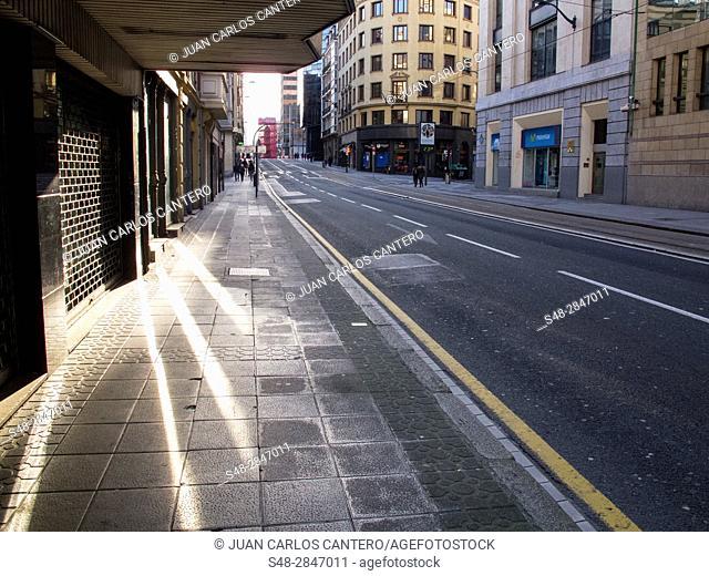 Calle Buenos Aires en Bilbao. Vizcaya. Pais Vasco. España. Europa