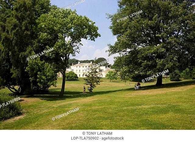 England, London, Hampstead Heath, Kenwood House also known as the Iveagh Bequest, a 17th century former stately home set in tranquil parkland by Hampstead Heath