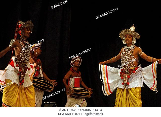 Ves dance , ves is the traditional attire of the kandyan dancer, sixty four ornaments complete the dress It takes years of rigorous before a dancer