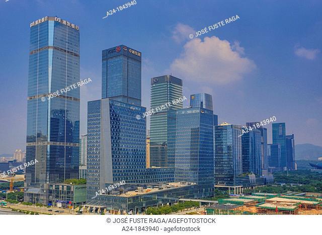 China , Shenzhen City, Futian Ward , skyline  Civic Center