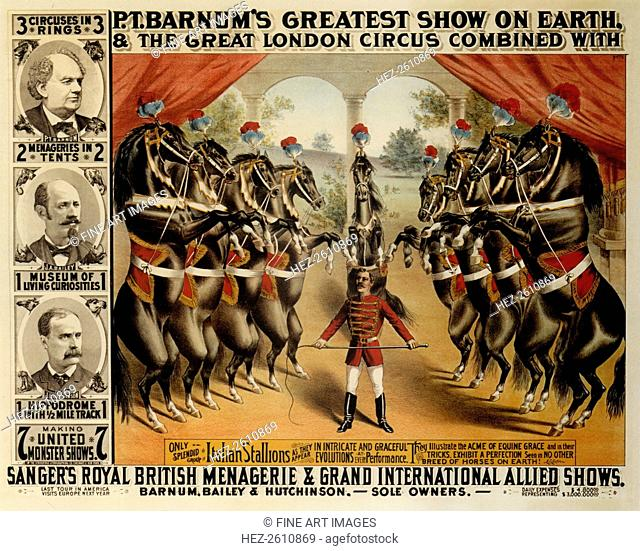Barnum's Greatest Show On Earth, 1882. Artist: The Strobridge Lithographing Company