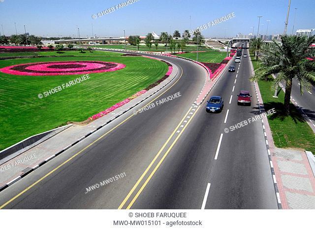A highway in Dubai, UAE 2004