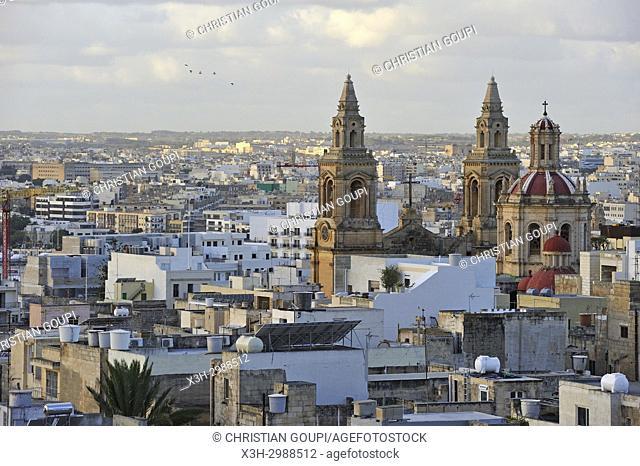 Stella Maris Church, Sliema, Malta, Mediterranean Sea, Southern Europe
