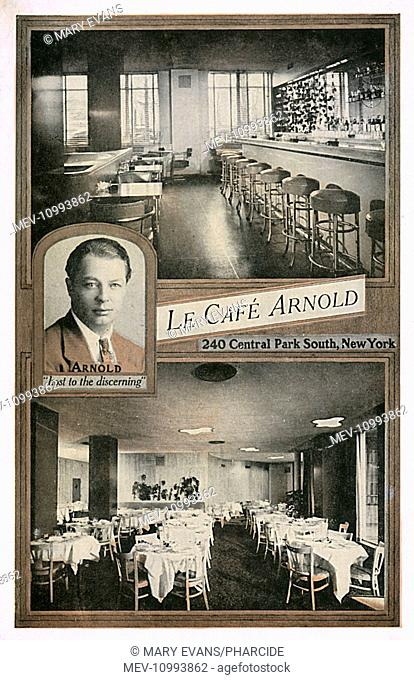Le Cafe Arnold, Central Park South, New York City, USA, offering French cuisine