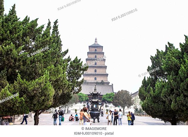 The Big Wild Goose Pagoda, Da Ci'en Temple, Xi'an, Shaanxi Province, China, Asia