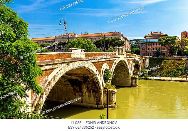 Giacomo Matteotti bridge on the Tiber River in Rome