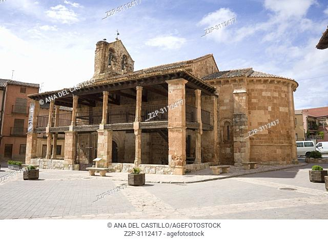 Ayllon Cradle Of The Red Villages Of Segovia Spain. Saint John church