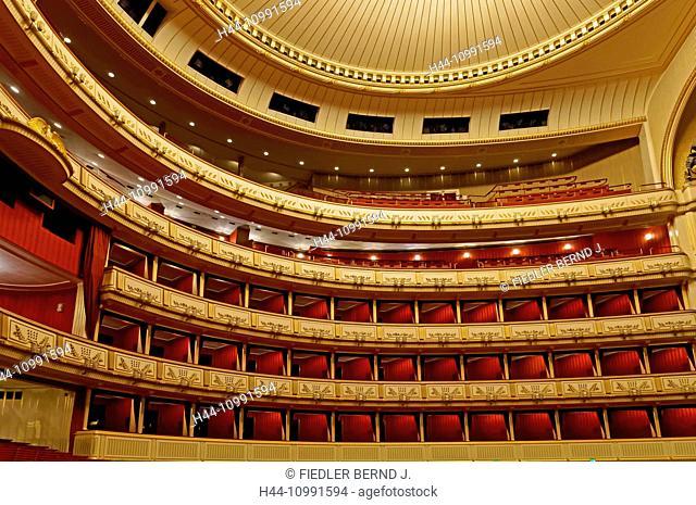Viennese state opera, seats, auditorium