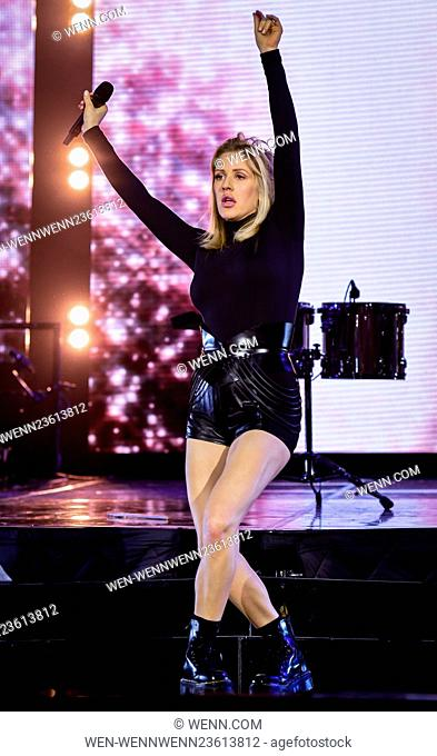 Ellie Goulding performs live in Cardiff on her Dilirium Tour Featuring: Ellie Goulding Where: Cardiff, United Kingdom When: 08 Mar 2016 Credit: WENN