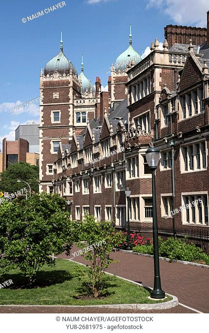 View of University of Pennsylvania with quadrangle, Philadelphia, Pennsylvania, USA