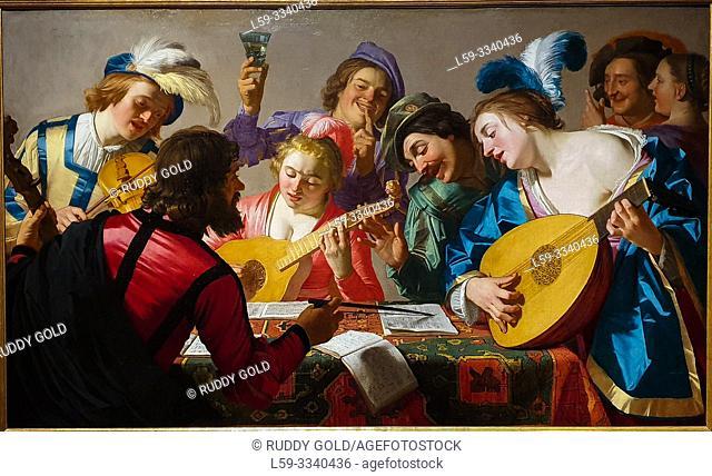 """The Concert"", 1623, by Gerard van Honthorst (1592-1656)"