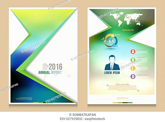 Cover annual report Leaflet Brochure Flyer template A4 size design, book cover layout design, Abstract presentation templates, Business report template
