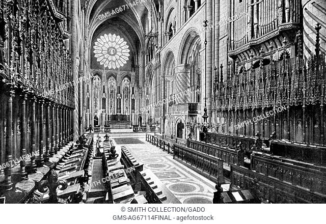 Choir of Durham Cathedral, United Kingdom, 1922