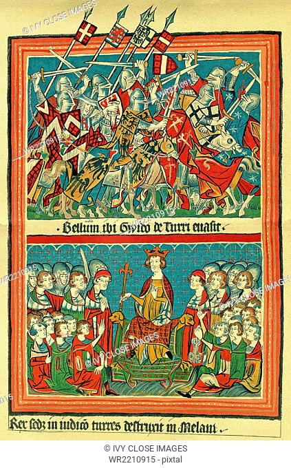 Henry VII (c, 1275-1313) was the Holy Roman Emperor. He was the count of Luxembourg and elected in 1308 to succeed the German king Albert I in 1308