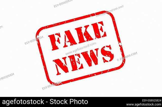 Fake news red rubber stamp vector isolated