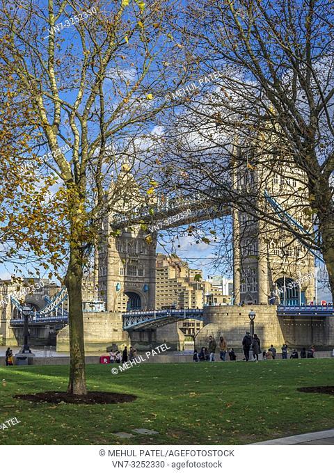 Iconic London city landmark, Tower Bridge, London SE1, UK