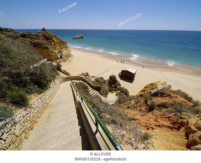 stairway to the beach, Portugal, Algarve, Portimao