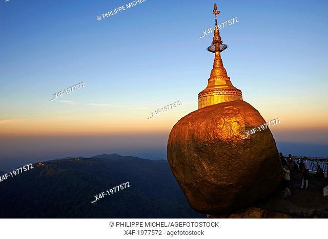 Myanmar (Burma), Mon State, Kyaiktiyo Golden rock