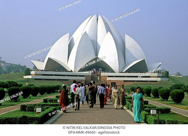Bahai Temple or Lotus Temple ; New Delhi ; India